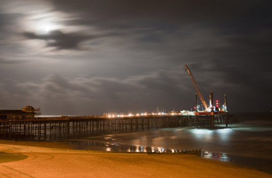 The Hastings Pier at Night4 and 8 October, 2014